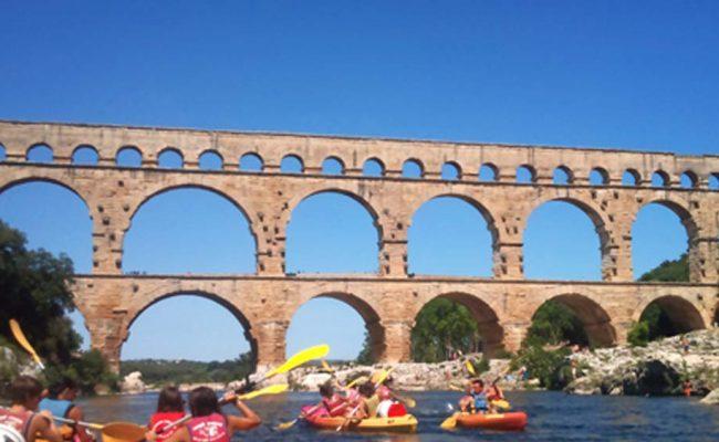 canoe-pont-du-gard