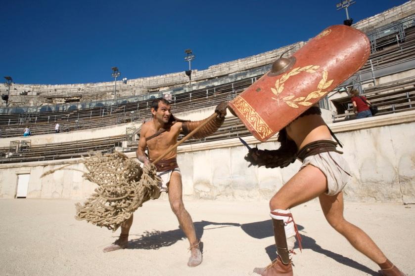 soirée romaine nimes combat gladiateur